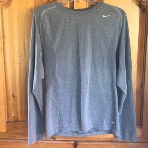 Nike Dri-Fit Gray long sleeve shirt